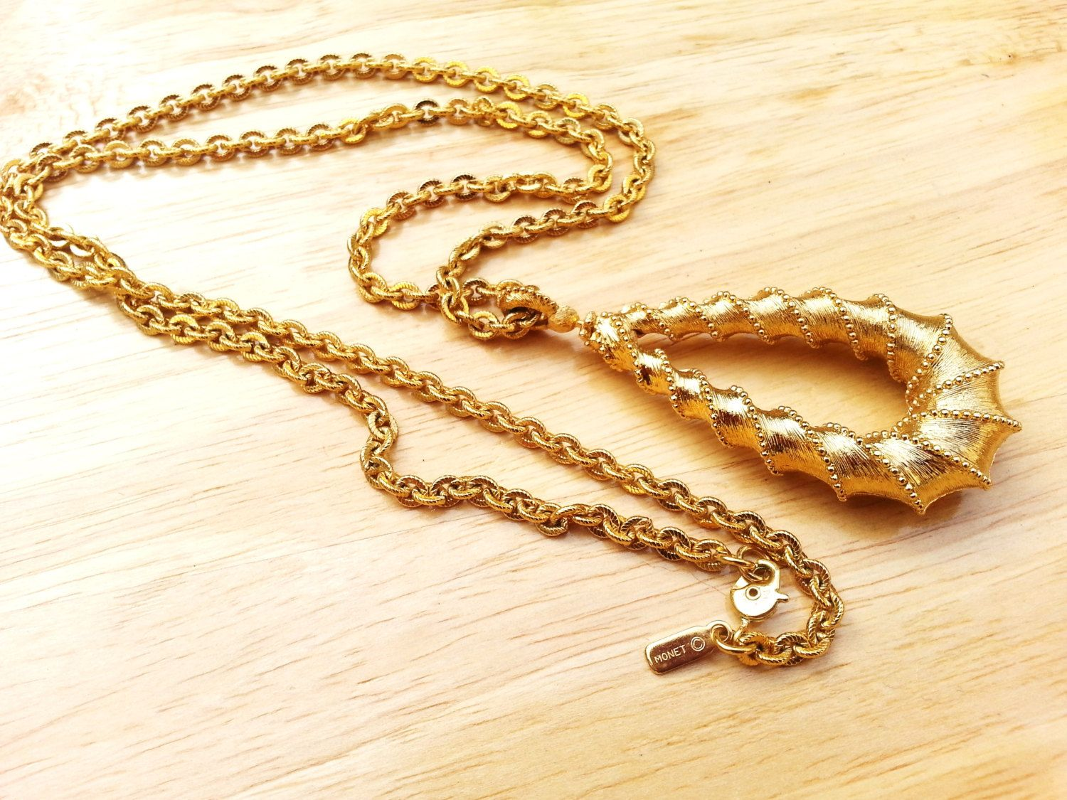 Long 1970s Disco Chain Necklace
