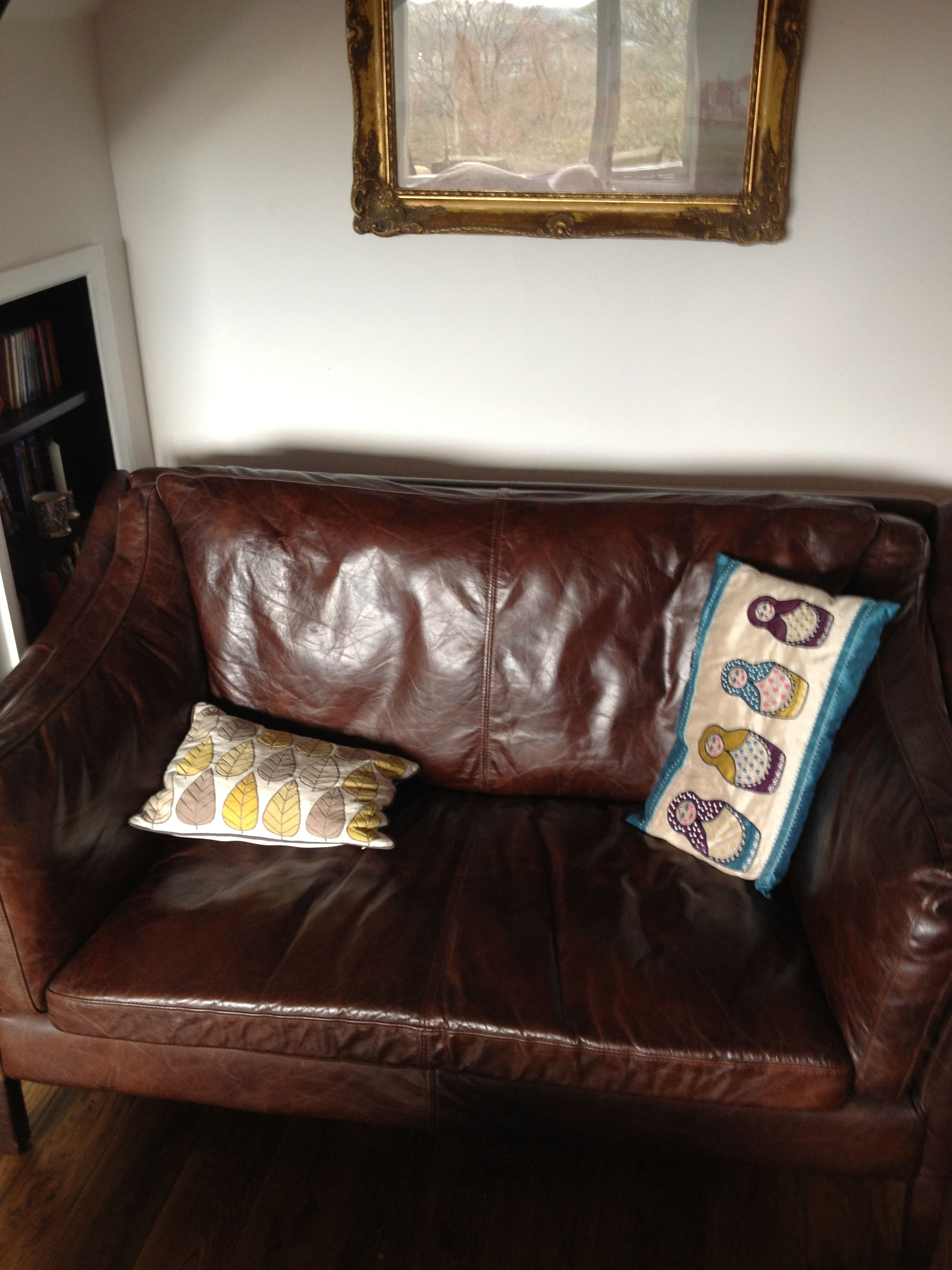 Leather sofa, Corbar Tower.