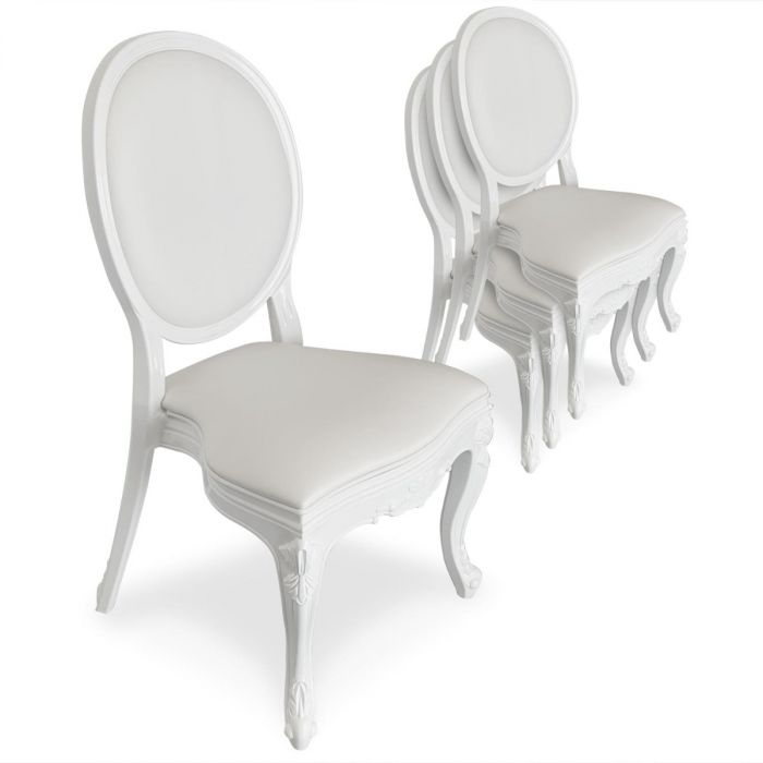 lot de 4 chaises medaillon isabel