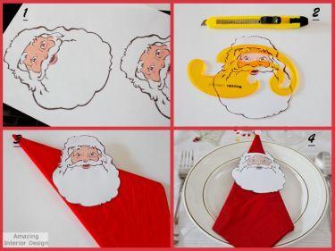 Guardanapo com Papai Noel