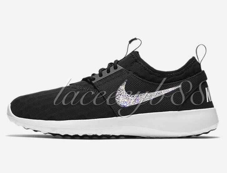 f3933700b439 Bling Swarovski Nike Juvenate-Black White