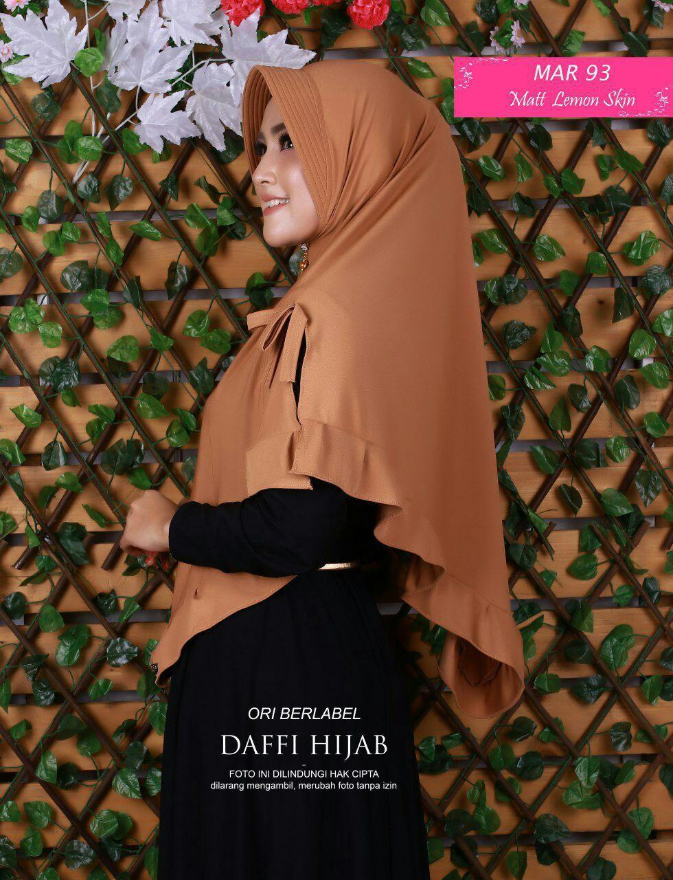 Jilbab Syari Belah Kanan Kiri Jilbab Bahan Lemon Skin Model Belah