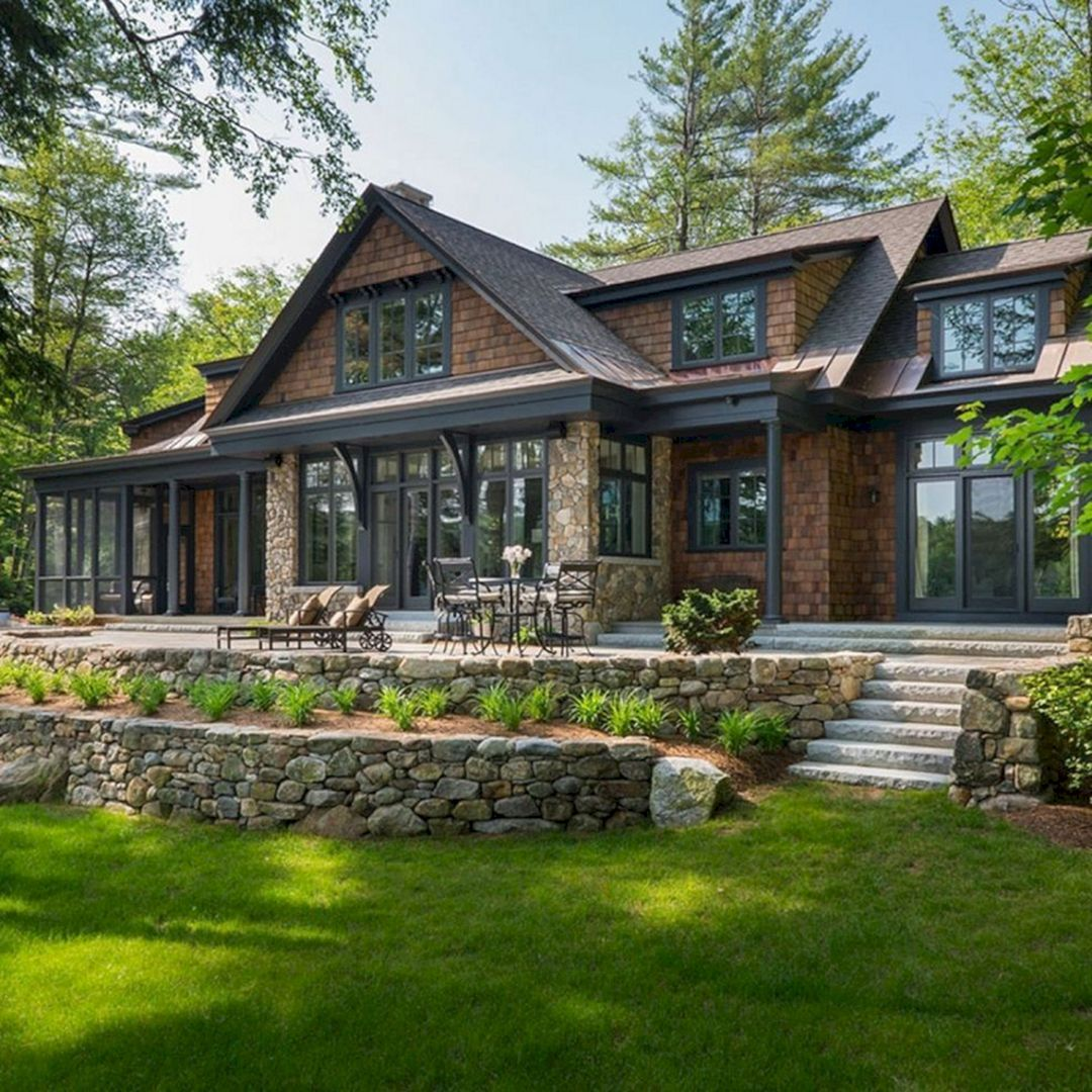 12 rustic home exterior ideas you must try in 2020 on lake house color schemes id=17121