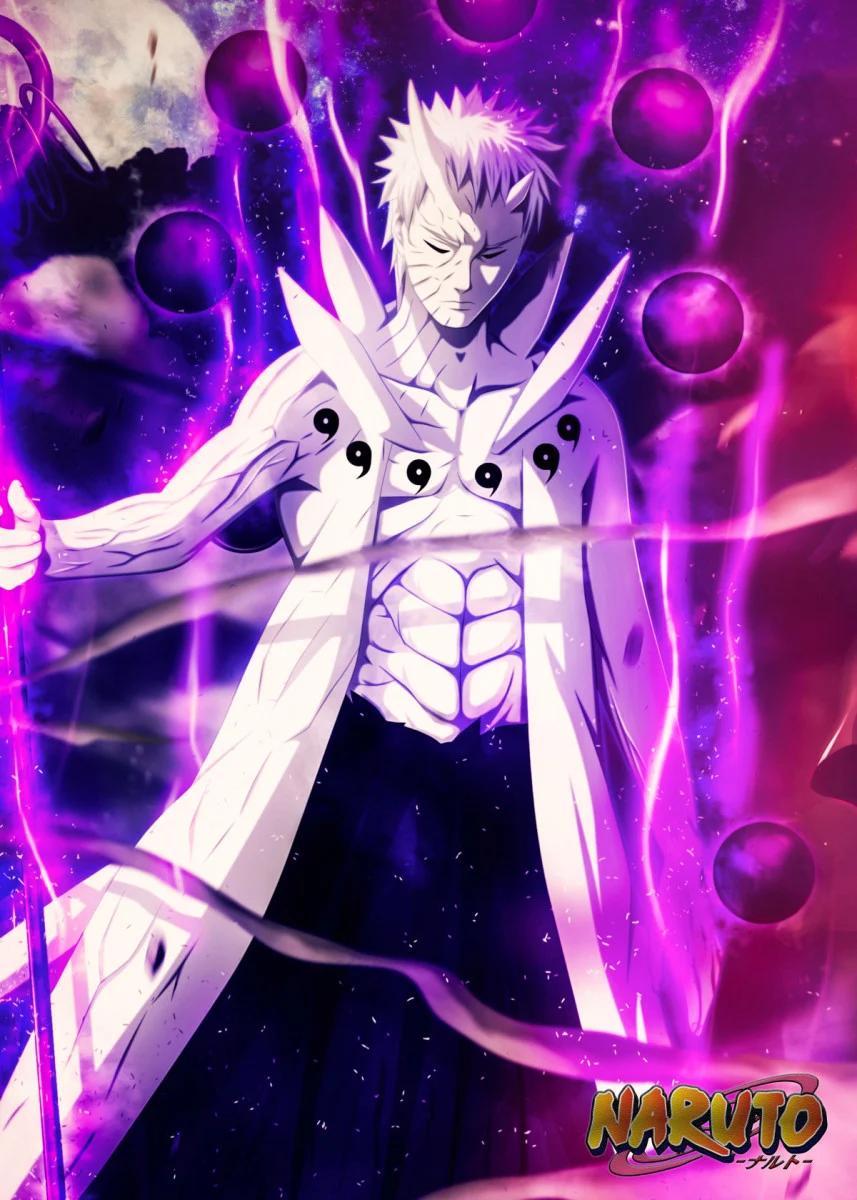 Kakashi Purple Lightning Wallpaper