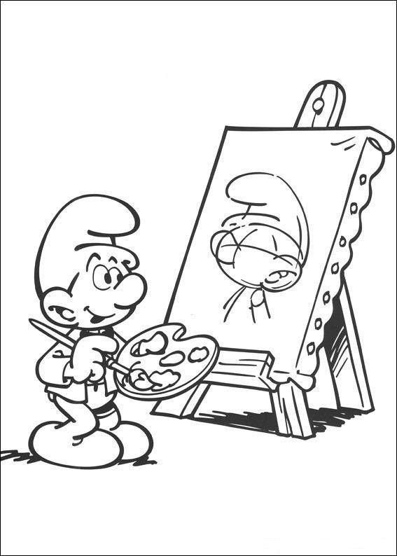 Schlumpfe Ausmalbilder Malvorlagen Zeichnung Druckbare Nº 5 Met Afbeeldingen Kleurplaten Kleurboek Kleurplaten Voor Kinderen