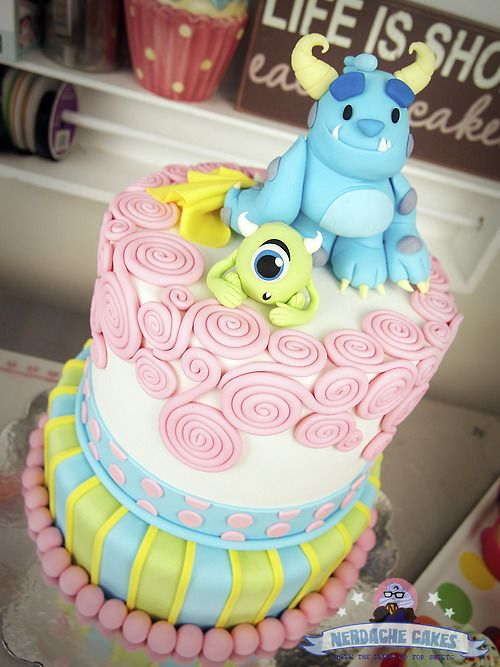 Monsters Inc Birthday Cake from Nerdache Cakes Cakes cupcakes