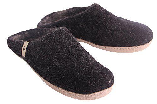 a146ea1495fbd Egos House Slippers: 100 Natural Sheep Wool Handmade Slipper Slip On ...