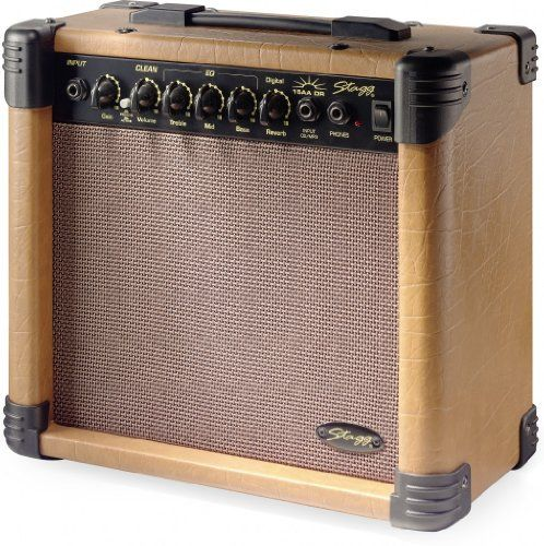 Stagg 15 Aa Dr Usa 15watt Acoustic Guitar Amplifier With Digital Reverb Find Out More About The Great Product At The Image L Acoustic Guitar Acoustic Guitar