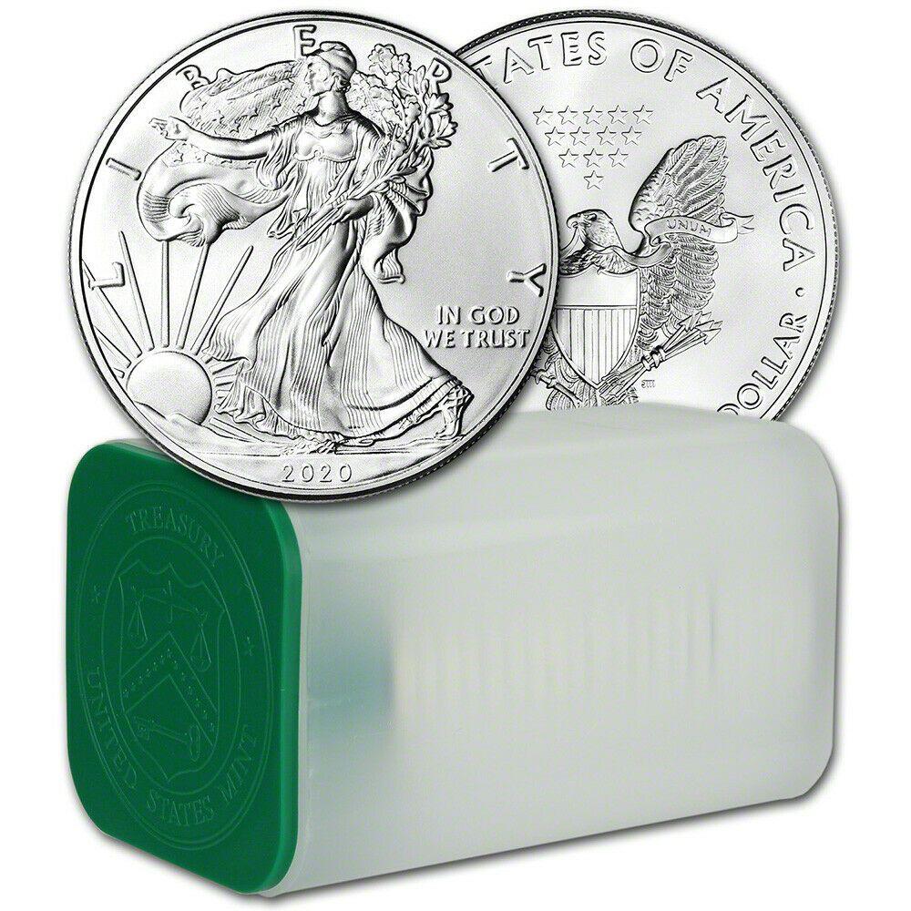 2020 American Silver Eagle 1 Oz 1 1 Roll Twenty 20 Bu Coins In Mint Tube Ebay In 2020 American Silver Eagle Silver Eagles Silver Eagle Coins