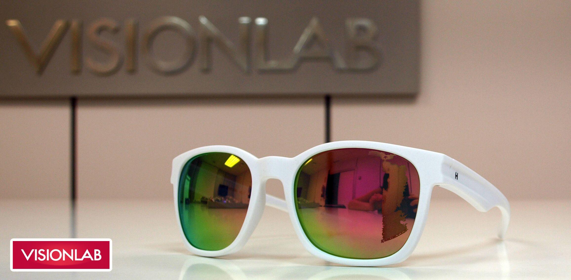 Gafas de sol espejadas Hevian montura blanca http://www.visionlab.es ...