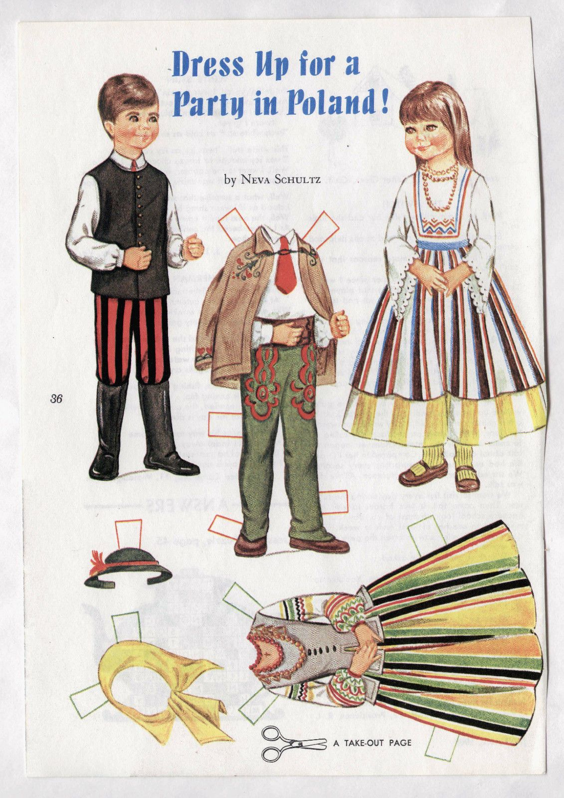 Vintage Dress Up for A Party in Poland Paper Dolls 1968 Uncut Polish ...