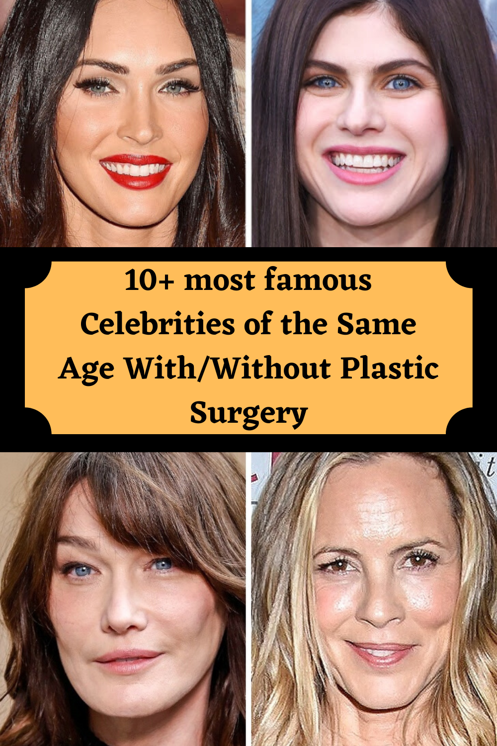 10 Most Famous Celebrities Of The Same Age With Without Plastic Surgery In 2020 Plastic Surgery Maria Bello Surgery