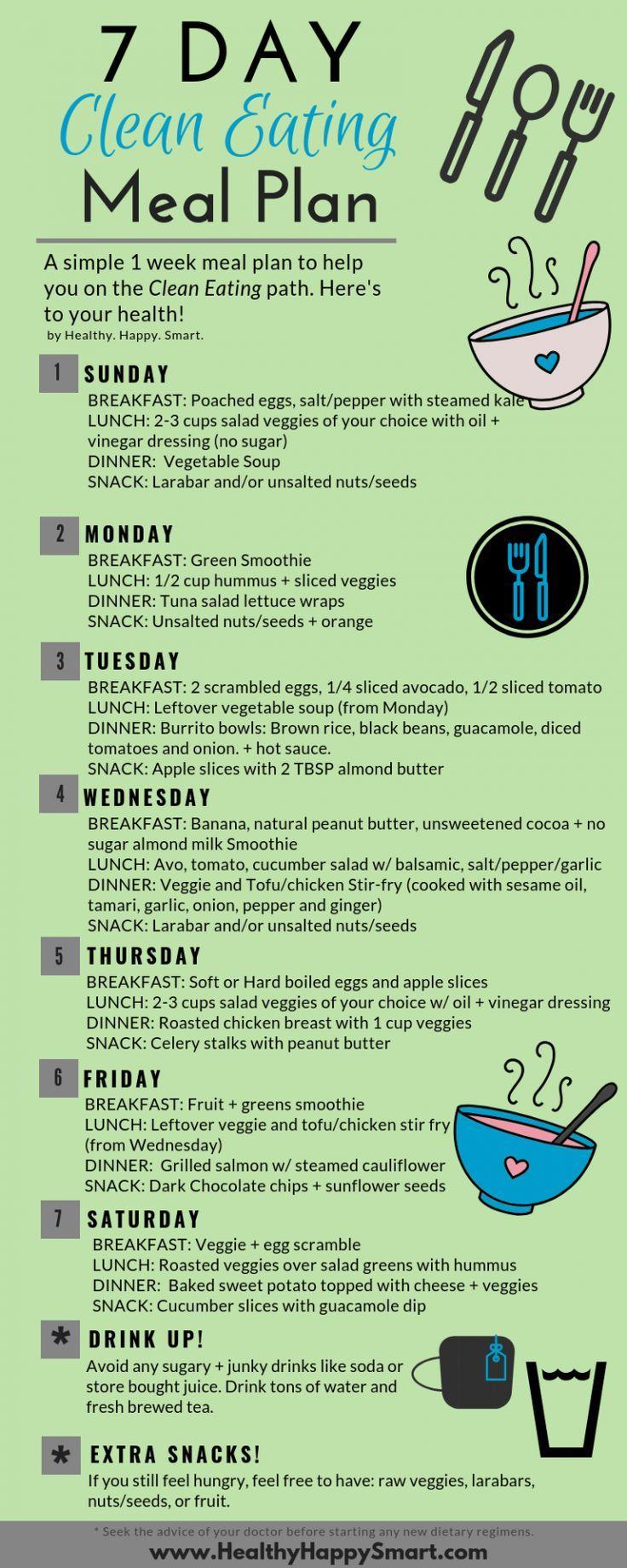 Clean Eating Meal Plan Sample,  Clean Eating Meal Plan Sample,