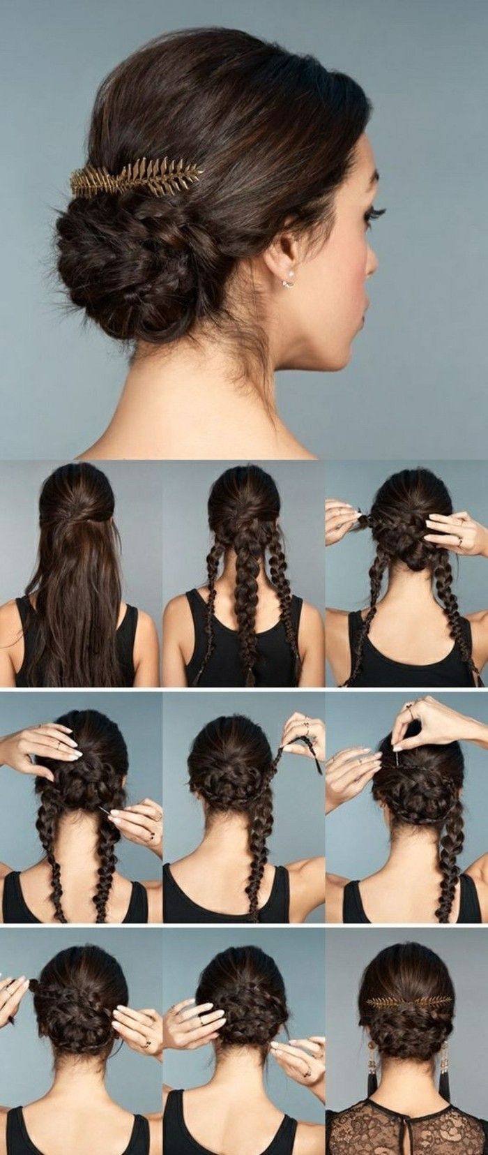 ▷ 1001 + ideas for beautiful hairstyles + DIY instructions #bunupdo