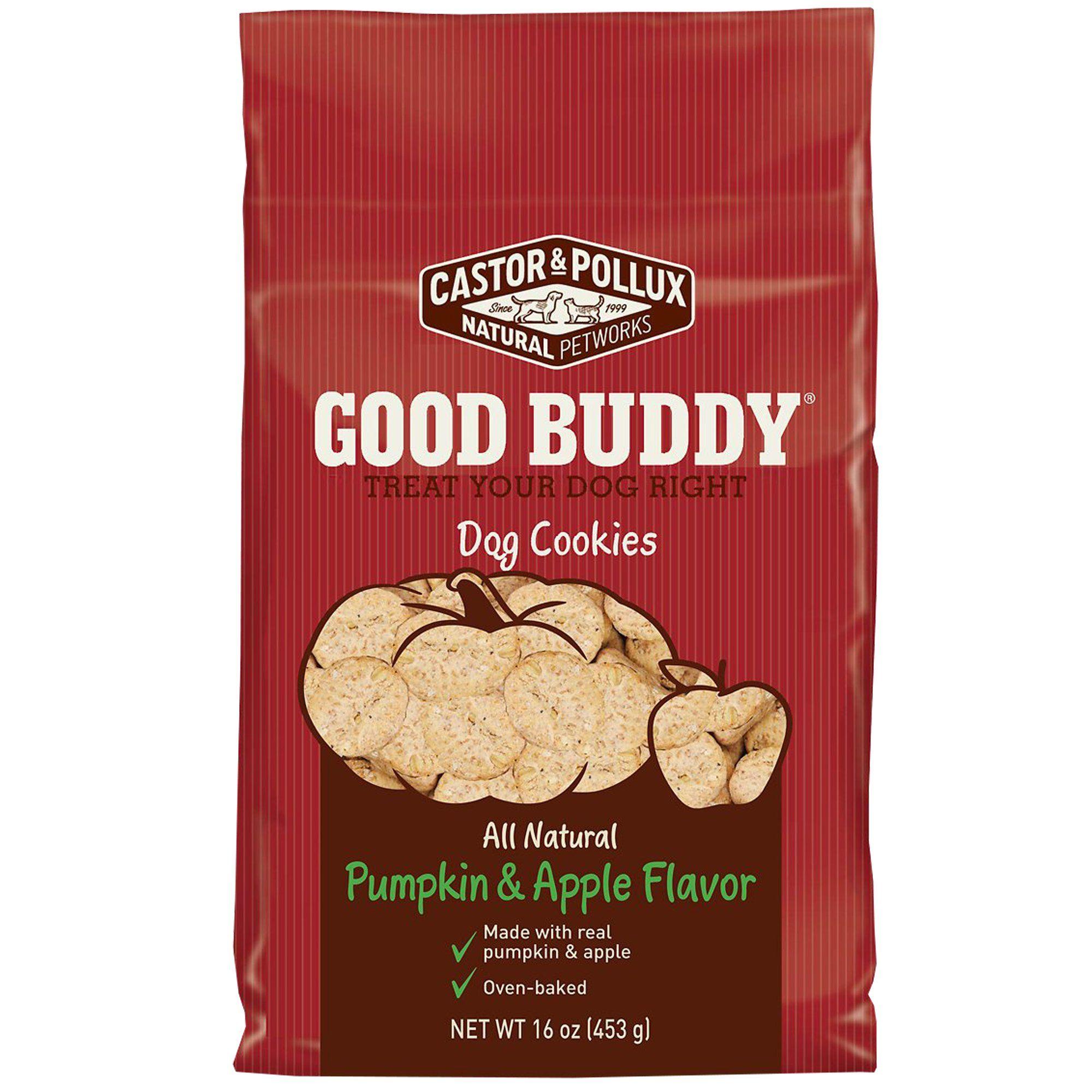 Castor Pollux Pumpkin Apple Flavor Cookies Dog Treats 16 Oz