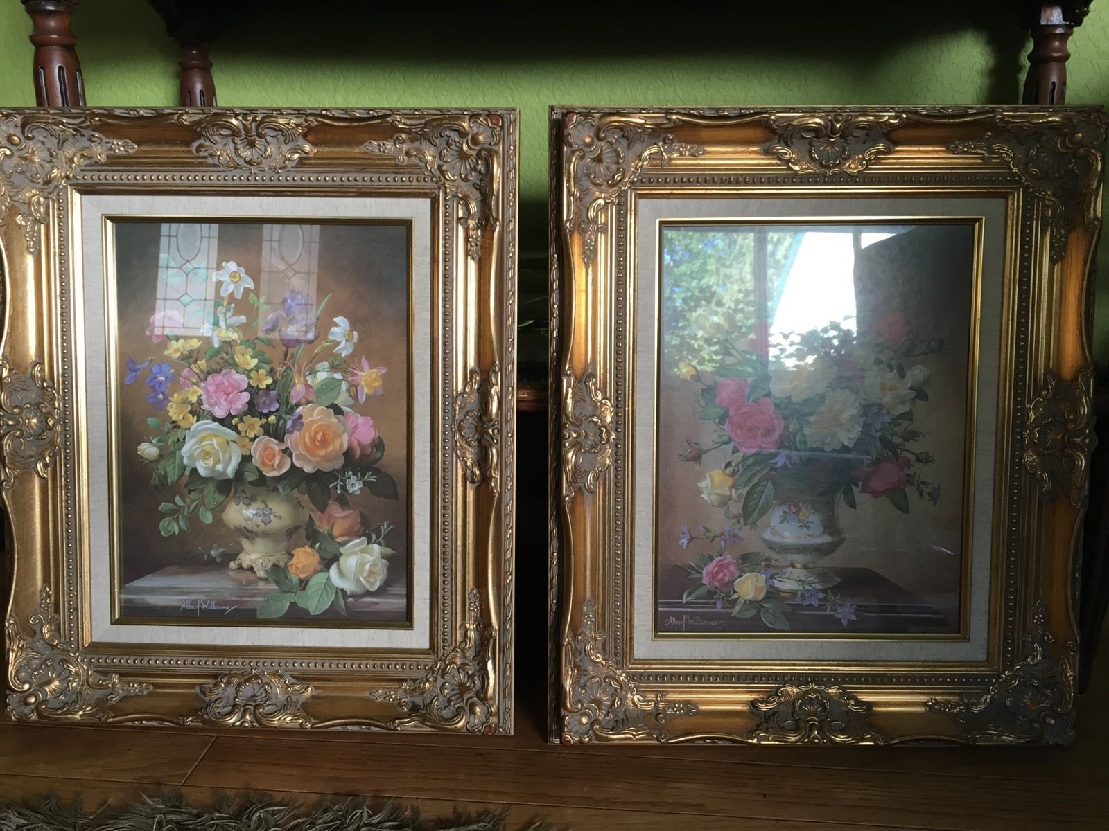 Very rare large home interior beautiful floral pictures by albert williams ebay