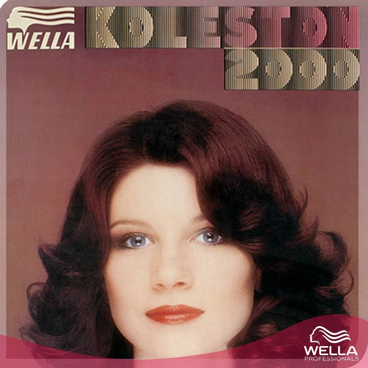 "في سنة 1974، تطور عالم الألوان مع كولستون 2000 من ويللا.   In 1974, colour science moved into the future with Wella's Koleston 2000, a gel-based formula. The slogan was ""colors naturally, conditions beautifully""—which still holds true today, of course! #TBT"