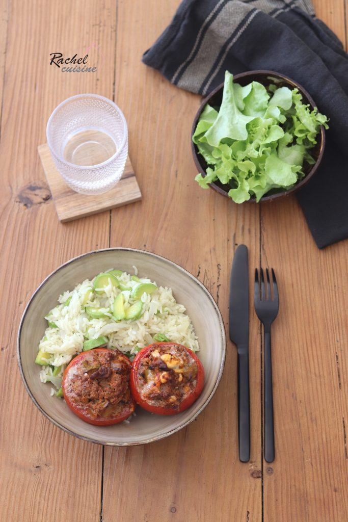 Tomates Farcies Ratatouille Et Viande Hachee Riz Pilaf Aux Courgettes Rachel Cuisine En 2020 Viande Hachee Rachel Cuisine Riz Pilaf