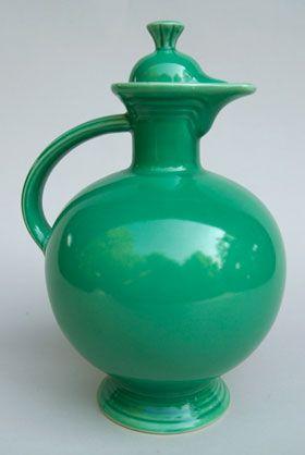 Vintage Fiesta Carafe Original Green Fiestaware For Sale Rare Gift Hard To Find 1930s 1940s Fiestaware Vintage