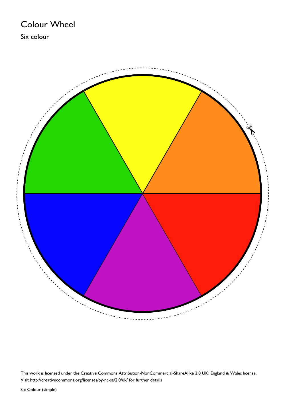Color wheel chart for kids the image for Picture of colour wheel
