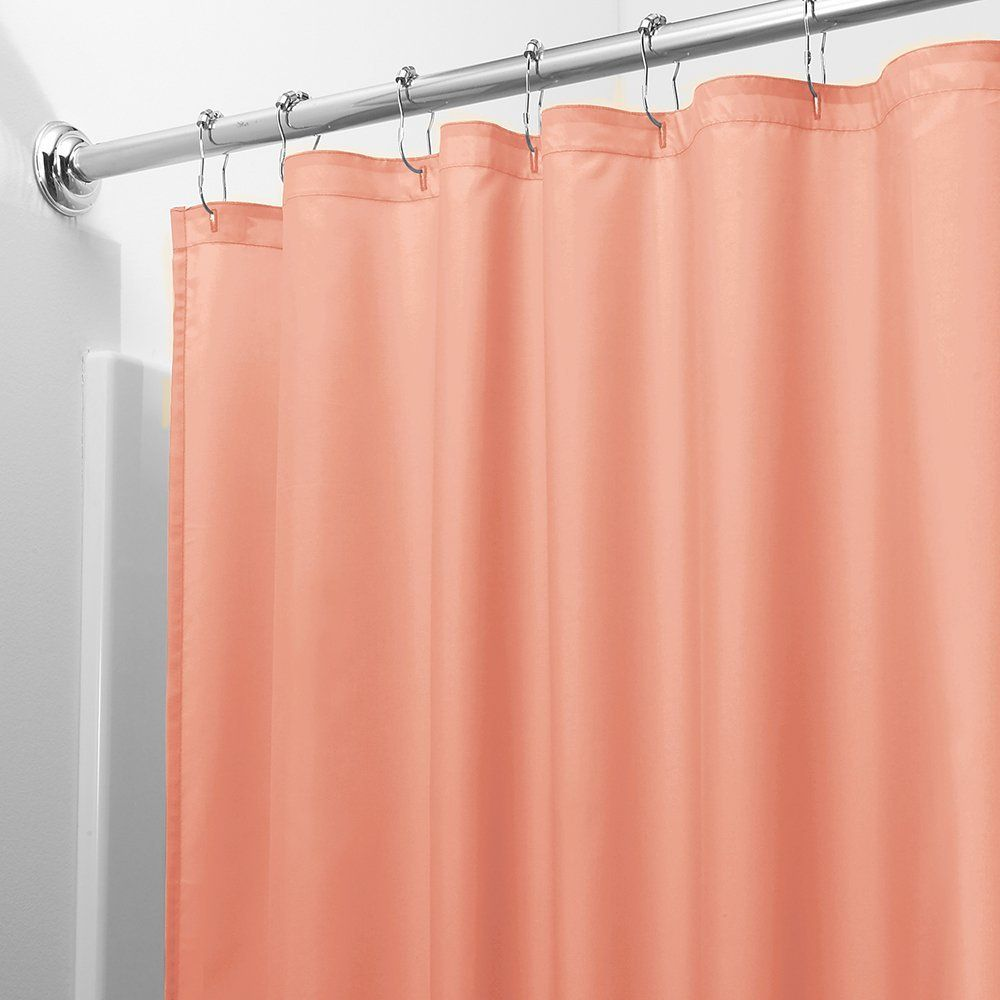 Amazon.com - InterDesign Mildew-Free Water-Repellent Fabric Shower Curtain, 72 by 72-Inch, Coral -