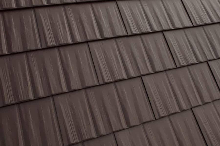 Interlock Cedar Shingle Metal Roofing Metal Roofing Systems Metal Shingles Aluminum Roof