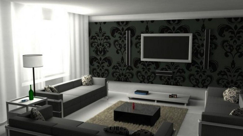 Living Room Ideas Black Black Wallpaper Living Room Black