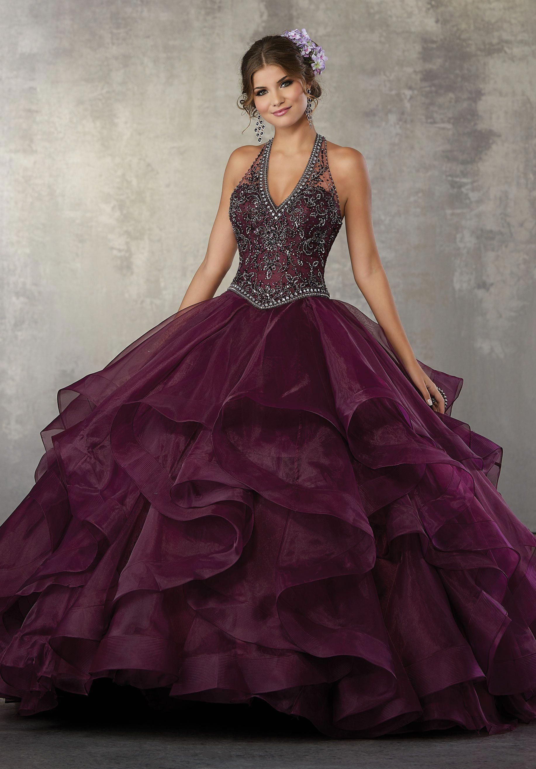 3a96ae62a52 Beaded Halter Quinceanera Dress by Mori Lee Vizcaya 89164   beautifulquinceaneradresses