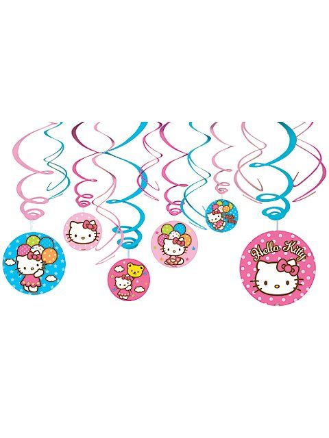 Hello Kitty Hanging Decorations Hello Kitty Party Supplies