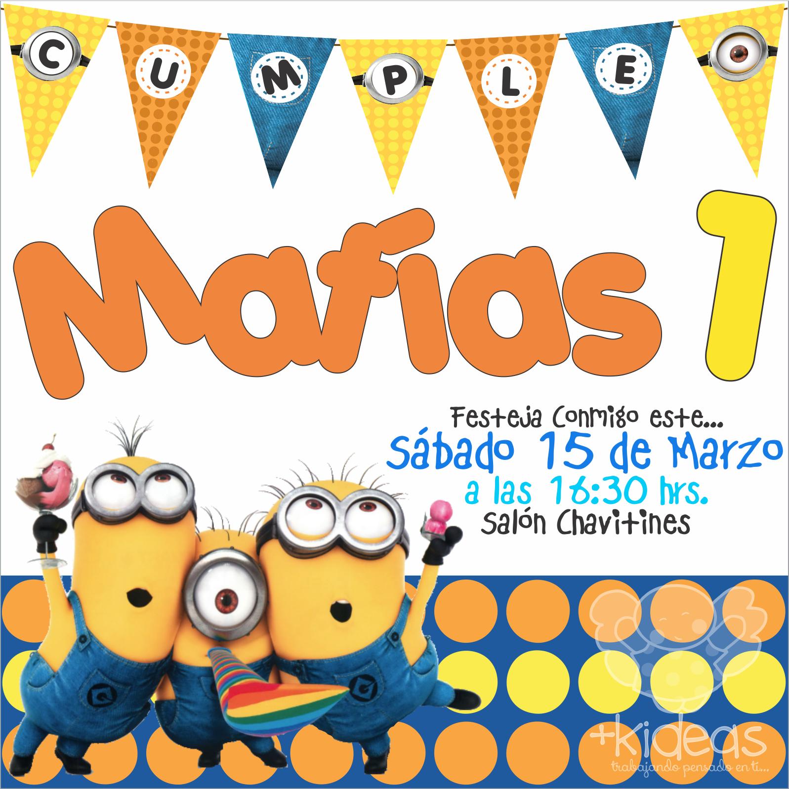 Minions Party Invitacion Minions Minions Fiesta Y Fiesta