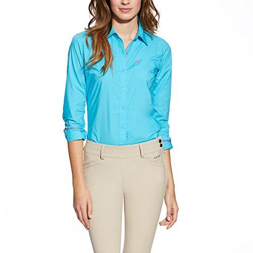 Ariat Womens Kirby Fitted Button Down Shirt Turquoise