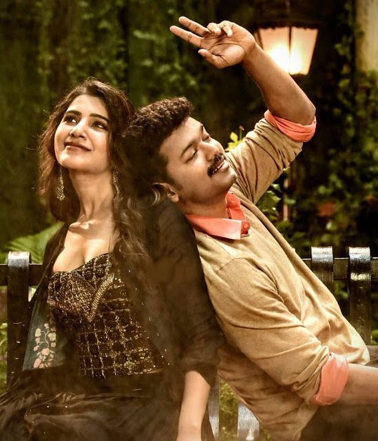 Vijay Samantha Kajal Aggarwal In Mersal Tamil Movie New Stills C65 In Actor Photo Actors Images Movie Couples