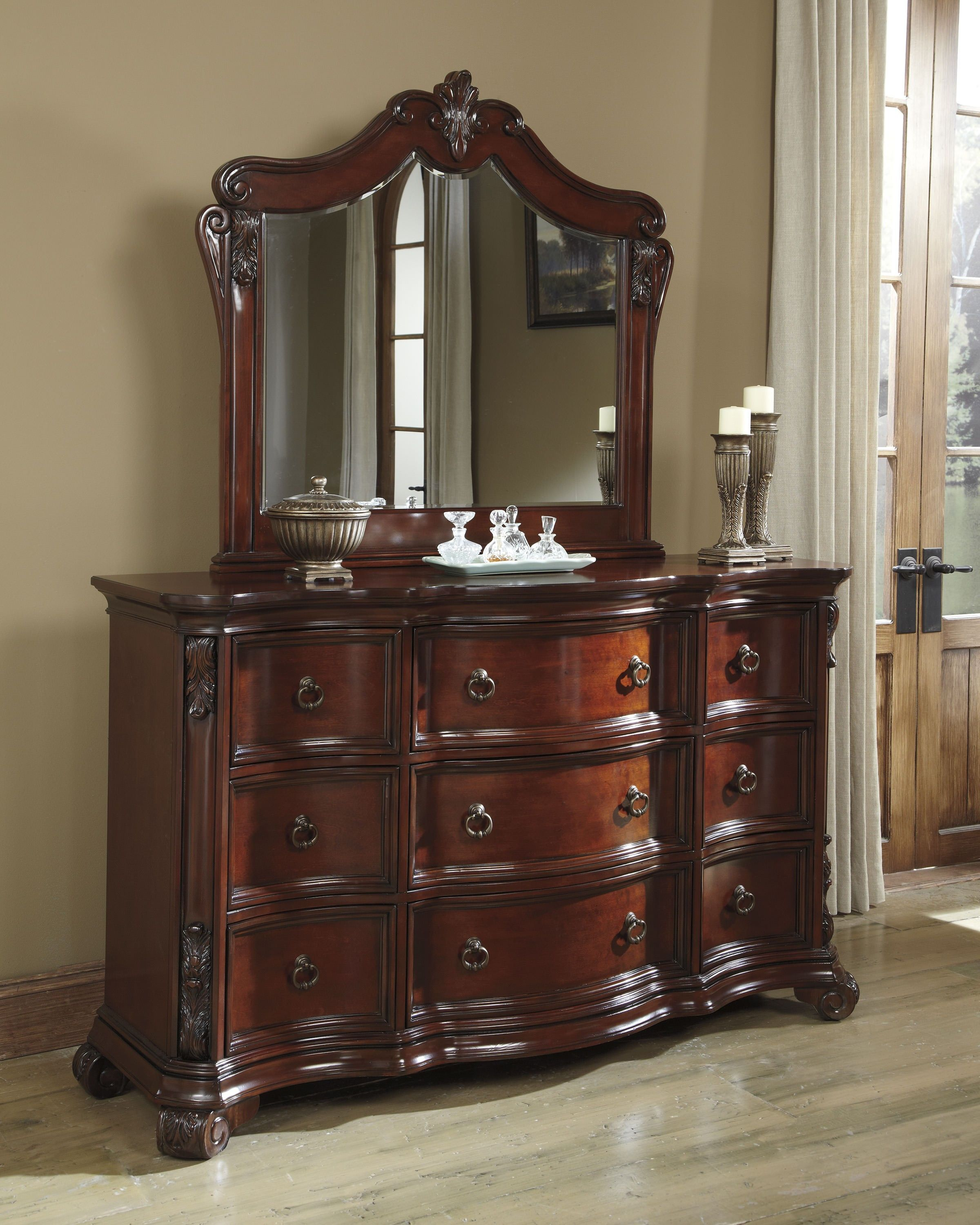 Bedroom Decor: Martanny Dresser by Ashley Furniture at Kensington Furniture.  Regal furniture for an