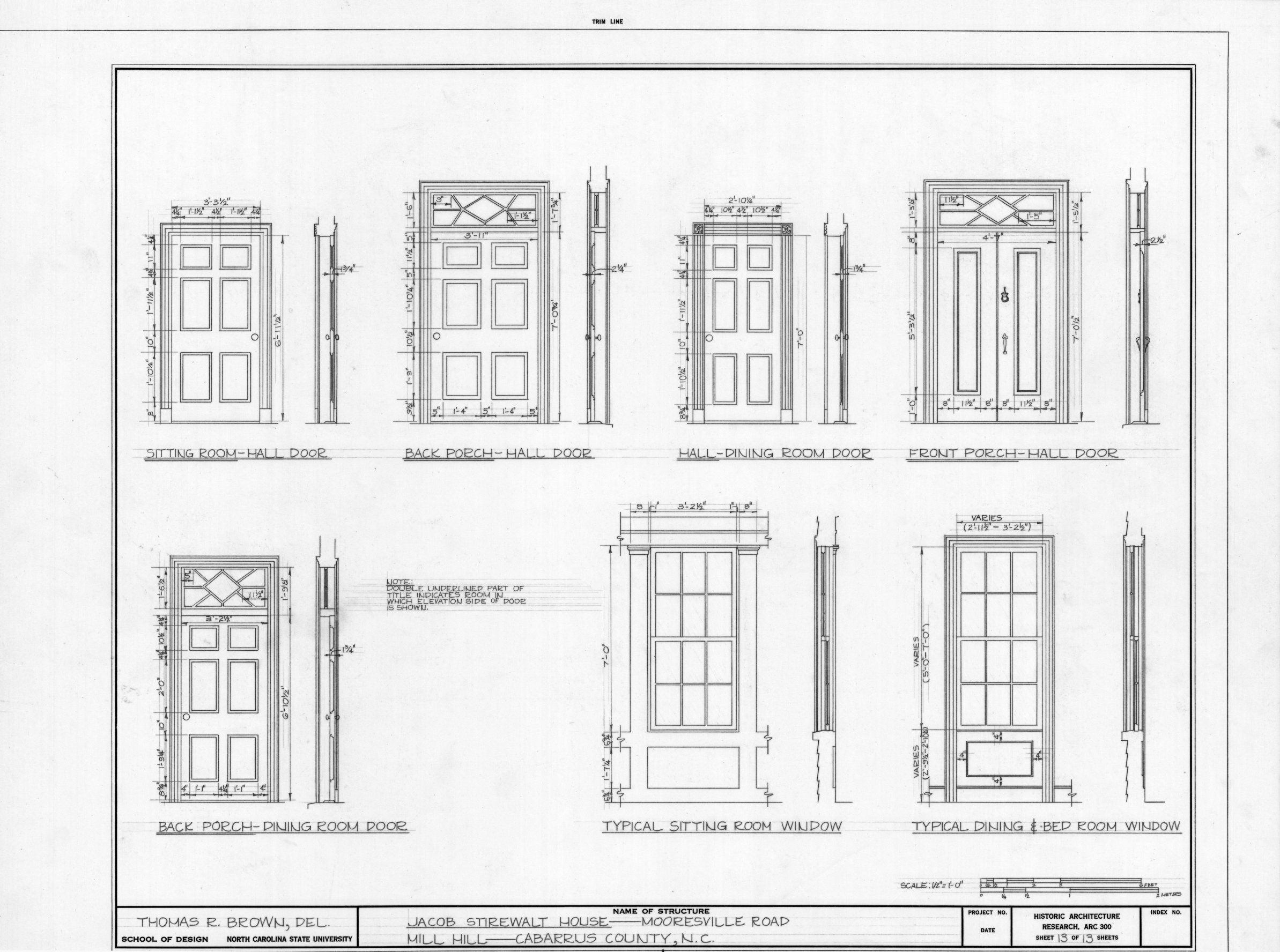 Door And Window Details Mill Hill Cabarrus County North