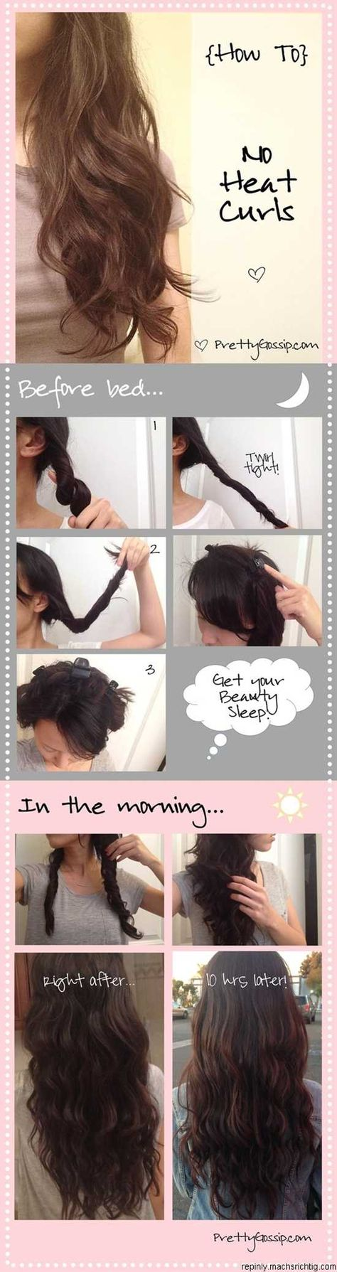 Easy No Heat Beach Waves Worth A Try P Pinterest Most Wanted Hair Styles Bad Hair Hair Beauty