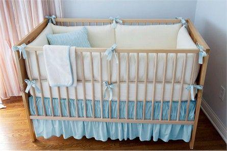Organic Herringbone Pool 3-Piece Crib Set