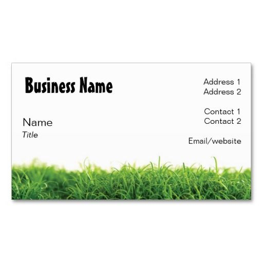 Lawn Care Business Card Lawn Care Landscaping Business Cards
