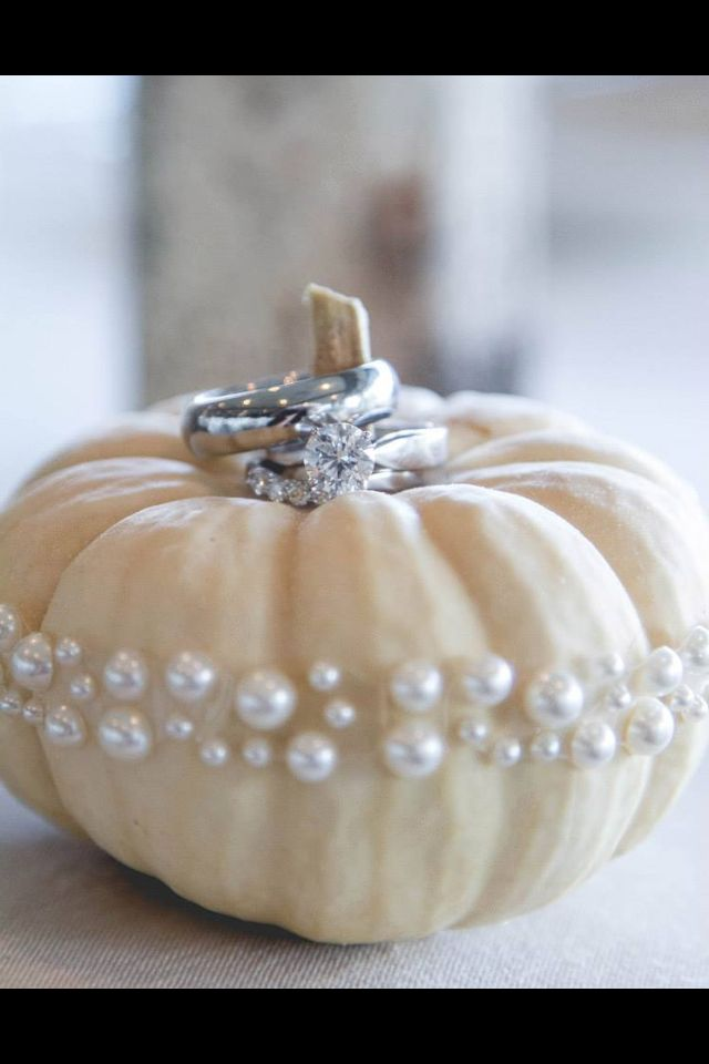 #White #pumpkins #wedding ring shot www.CharmingGraceEvents.com