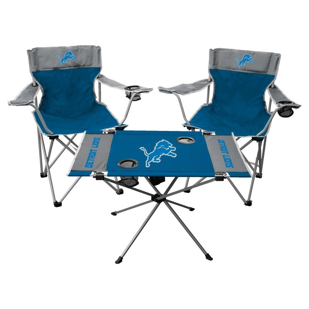 nfl detroit lions rawlings tailgate kit 2 chairs and endzone table rh pinterest com