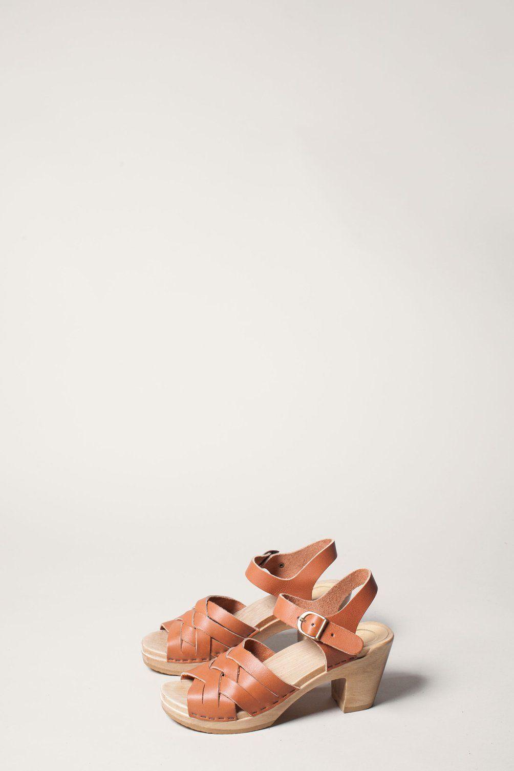 e4cf8cc252fd No.6 Huarache Clog on High Heel in Caramel