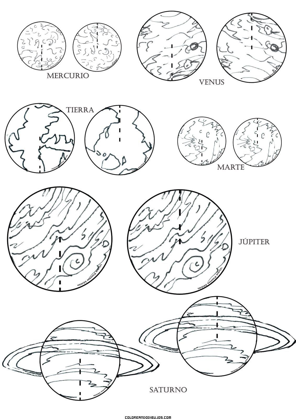 Planetas Para Colorear – PampeKids.net | К | Pinterest | Planetas ...