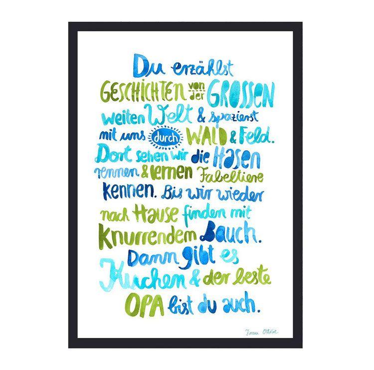 Print Opa Spruch Gedicht Oma Geburtstag Geburtstag Gedicht Geschenk Opa