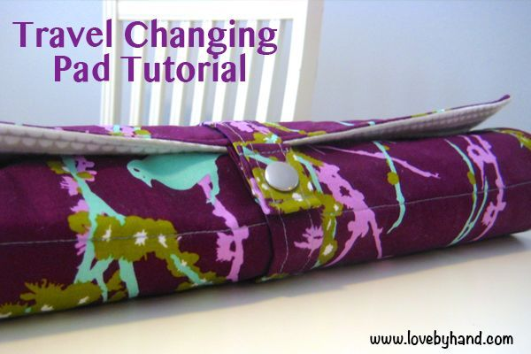 Craftaholics Anonymous® | here is another must have when baby comes! DIY your own changing pad. Great gift idea, and perfect for on the go.