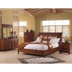 Somerton Runway Sleigh Bedroom Set In Chestnut Guest Bedroom Decor Small Bedroom Decor Bedroom Design