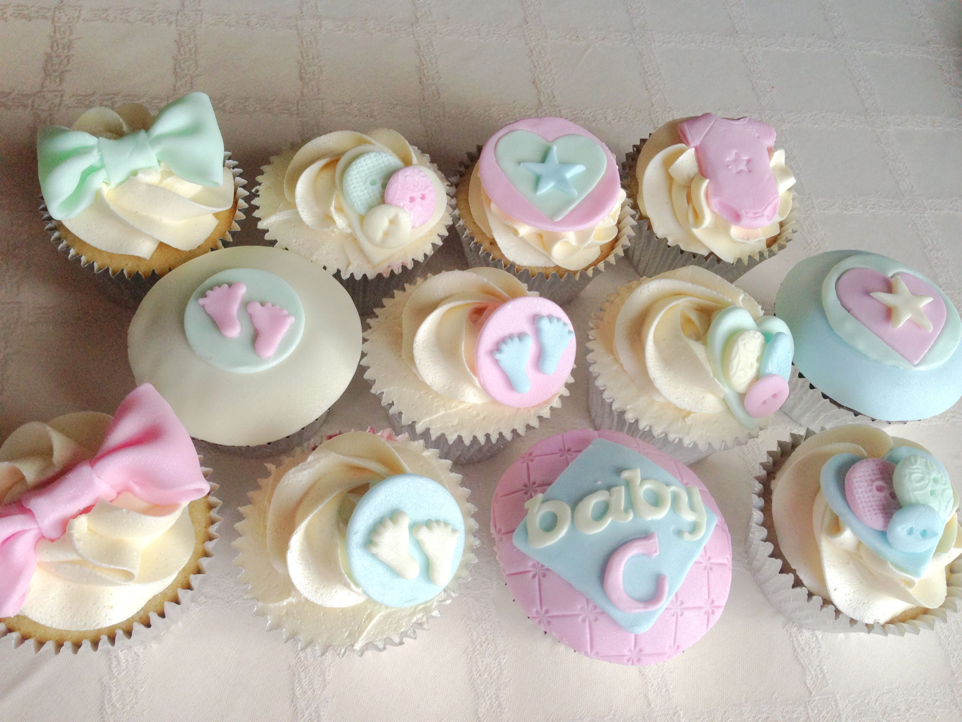 Uni Baby Shower Cupcakes food Pinterest