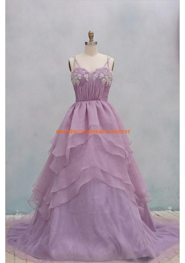 Lila A-linie Süß romantisch Extravagantes Brautkleid 2013 aus Organza