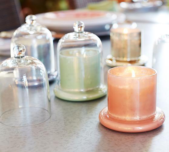 Color Cloche Candle Pots Pottery Barn