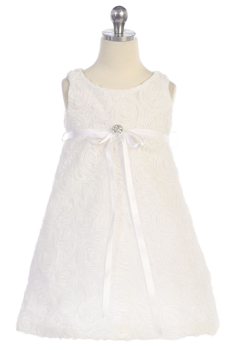 272f0a2bf2d Cute Floral Texture Embroidered Short Flower Girl Dress K295  52.95 on  www.GirlsDressLine.Com