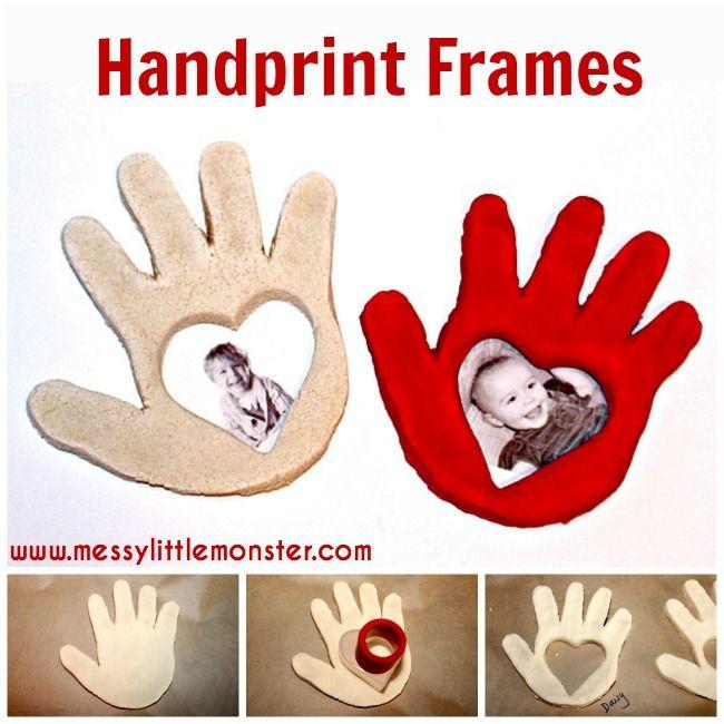 Salt Dough Handprint Frame Grandparents Day Crafts Fathers Day