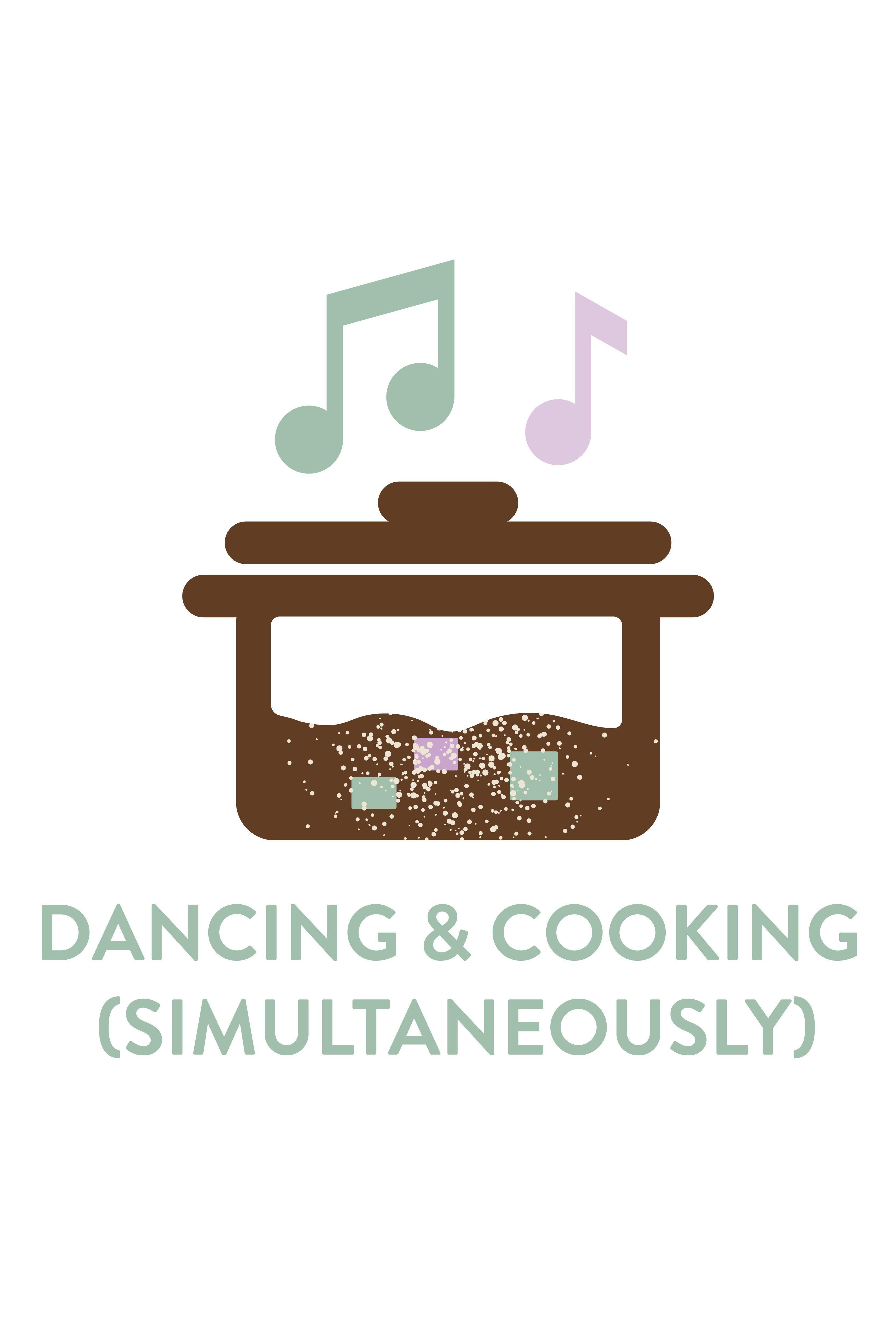 Dancing Cooking Icon Resume Branding Graphic Designer